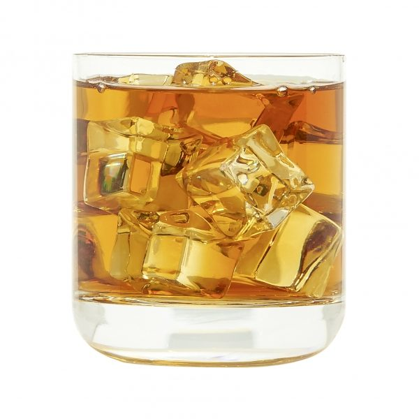 Personalized Leather Rocks Glass Holders with Initials Box Set of 2 with 9-oz Glasses