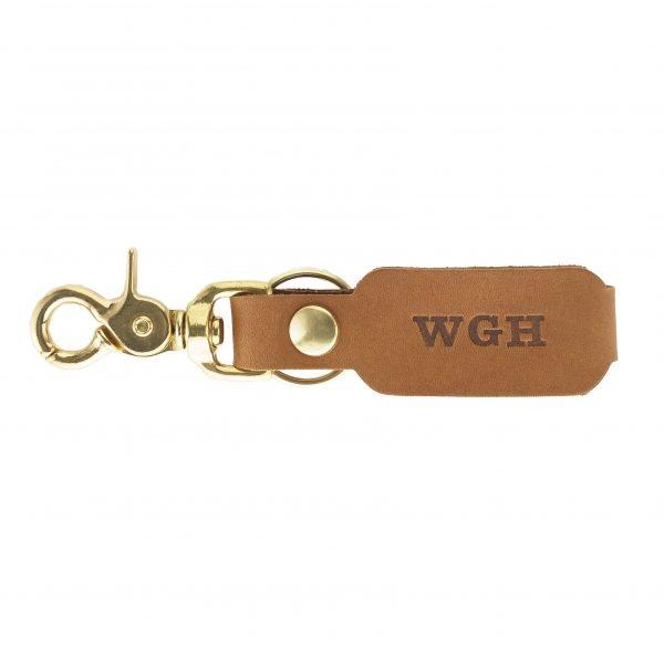 LOGO Leather Key Chain: Custom Initials