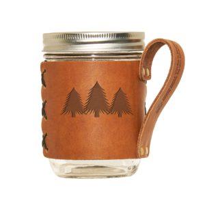 Wide Mason Sleeve: Pine Trees