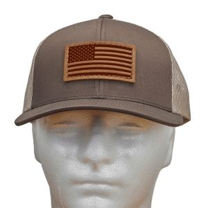 Trucker Snapback with Patch: American Flag