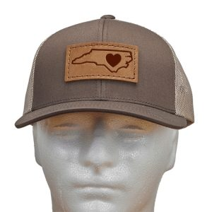 Trucker Snapback with Patch: NC Heart