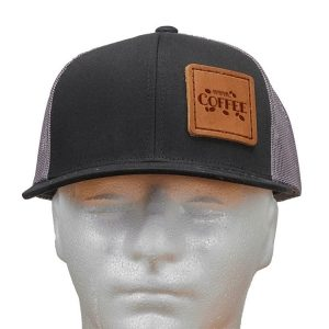 Trucker Snapback with Patch: Mmm...Coffee