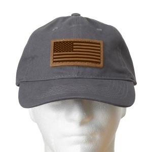 Chino Unstructured Hat with Patch: American Flag
