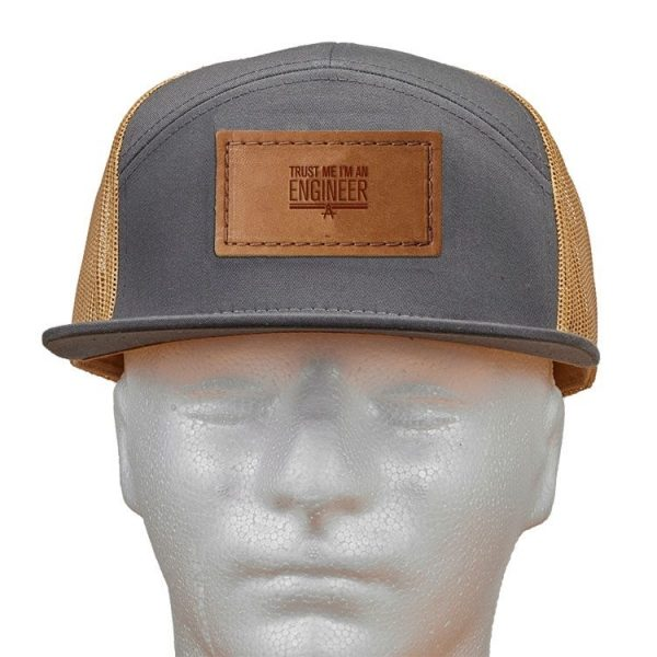 Seven Panel Twill Trucker: Trust Me ... Engineer