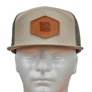 Seven Panel Twill Trucker: Real Women...Beer