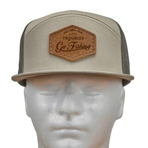Seven Panel Twill Trucker: Go Fishing