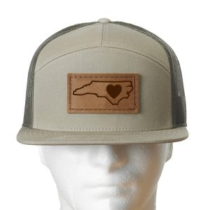 Seven Panel Twill Trucker: NC Heart