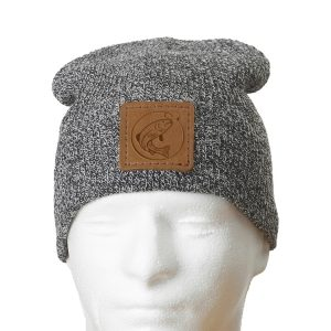 "9"" Super Soft Acrylic Beanie with Patch: Fish Hook"