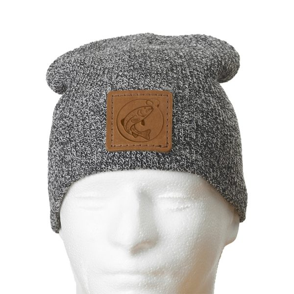 """9"""" Super Soft Acrylic Beanie with Patch: Fish Hook"""