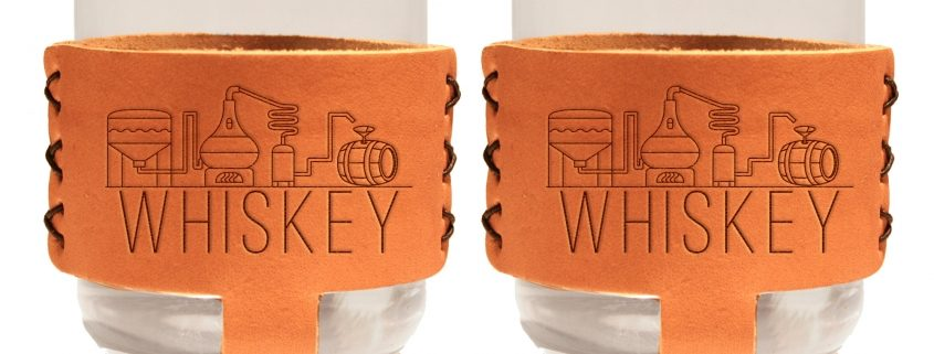 9oz Rocks Sleeve Set of 2 with Glasses: Whiskey