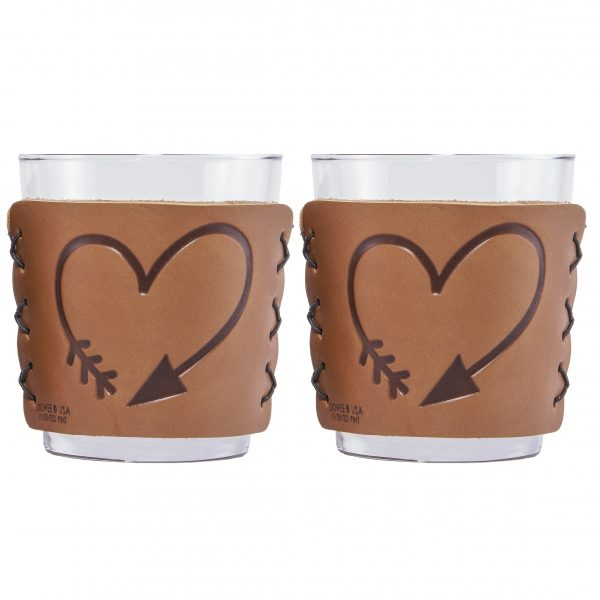 Highball Set of 2 with Glasses: Valentine's Day Heart