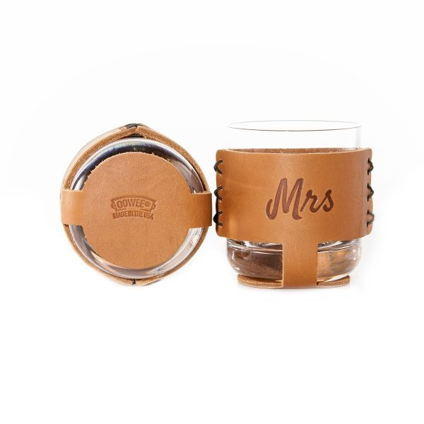 9oz Rocks Sleeve Set of 2 with Glasses: Mr & Mrs