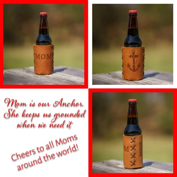 Bottle Holder: Anchor Mom/Mothers Day