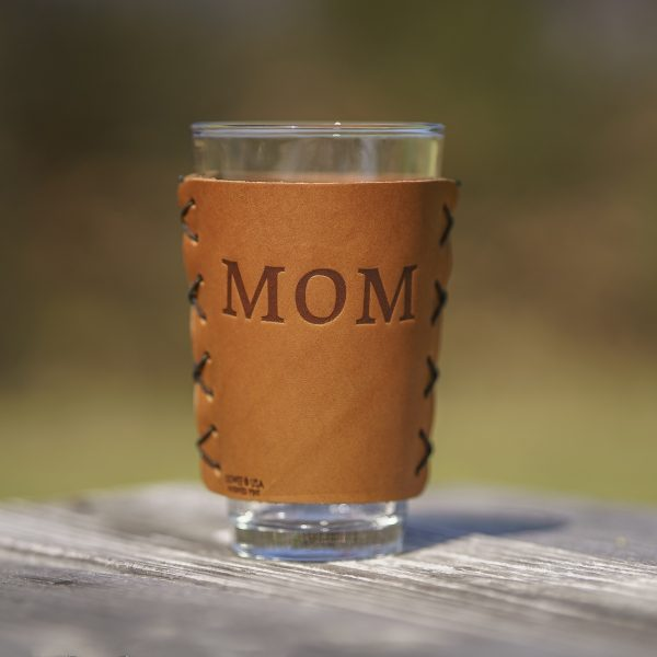 Leather Pint Holder: Mothers Compass