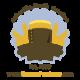 Navy Senior Chief Leather Keychain with Brass or Black Zinc Hardware