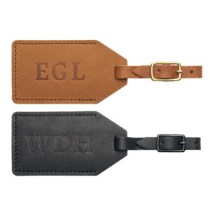 Oowee Personalized Leather Luggage Tag